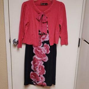 7th Avenue hot pink cardigan